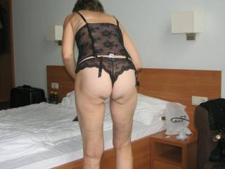 wife ass in lingerie