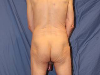 Can you tell the state of the foreskin in this pose?