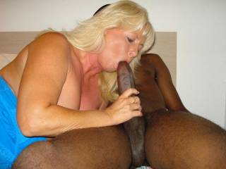 she knows you had that cock up some married white womans ass the night before and she still begs you to suck it, very nice......