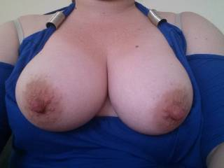 hi ,wow you have a beautiful tits would love to suck on them x