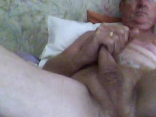 Wank on my wife's cunt, wet hairy sweet