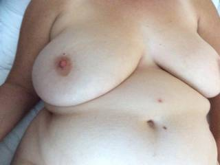 I would love to kiss and suck those beautiful tits, but the ultimate would be to slide my hard cock between them and cover them in cum.