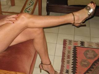 And we love it too. The shoes make your feet and legs so sexy and I would love to lick your toes, feet and legs. After that I'm sure that you will be so horny so you spreads your legs for me so I can lick your delicious pussy and body