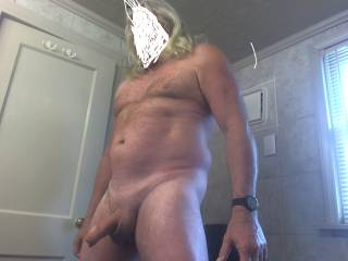 Older man getting ready to cum........