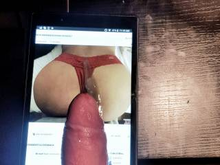 SexyAsianWife85\'s sexy ass getting a cum tribute