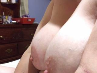 Another view of Kitten\'s big tits and hard nips
