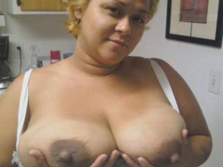 butterscotch showing her tits for all you men....