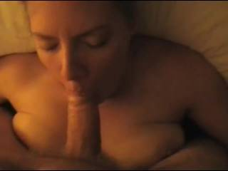 Mnwife gives great blow jobs.  In this video, she gets face fucked, takes a facial, and keeps on going.  Please keep the comments coming.