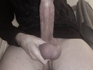 Even when my balls are quite well drained from intense marathon fucking the day before, my cock is always getting stiff all day long and I have to stroke it for a bit to calm myself down. Being oversexed....a blessing and a curse!