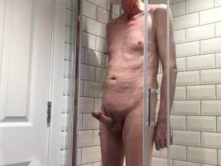 \'He\' may be stood up but I am sure that there will be room for you in the shower if you would like to join us.
