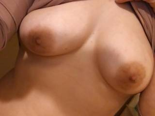 Come rub your big cock on my young perky tits . I\'m begging for a big cock to suck any takers?!.!.