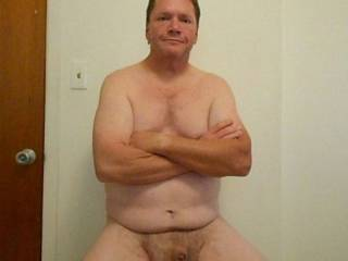 """This is one of the few times you'll see me with my dick hair. I'm usually shaven. I'm naked, proudly circumcised, 1"""" limp and 5.9"""" erect. I\'d like to meet a bisexual swinger couple for M/F/M and M/M/F no holes barred sex. I'm ready to screw !"""