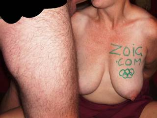 Love to play in your Olympics. Hope nipple pinching while get a blowjob event is still open. Love it. Fantastic tits.