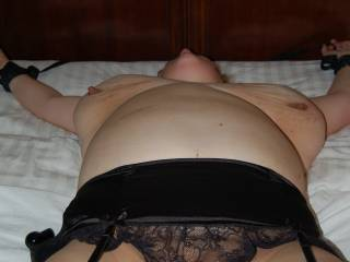Now bound & ready for round 3.  Ignored.  His horny wife is the stranger\'s whore for the first night then the cock owns the pussy... Married Fuckmeat...