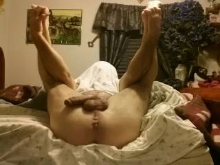 This would be perfect! That way is could jerk you off at the same time. I could cum in you the same time I get to watch you cum everywhere!