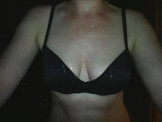 Jizz on the bra.