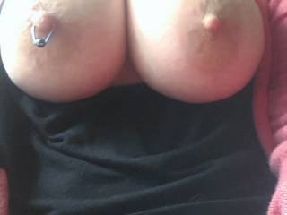 those are stunning big, firm, tits with lovely crinkly skinned areola round those big nipples I'd love to suck