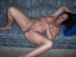 I'll fuck your wet pussy hard right on that couch and watch your tits bounce up and down!!!