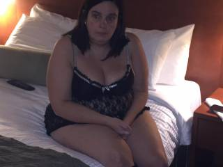 Anxious in hotel room for threesome to start