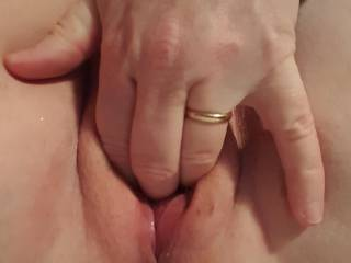 Three fingers in my wet pussy...SOO horny!!