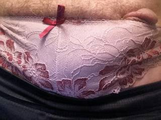 Discovered I like seeing my cock in panties a couple years ago so I started taking them from friends dirty laundry, luggage and drawers. These we some of my first, are you missing any?