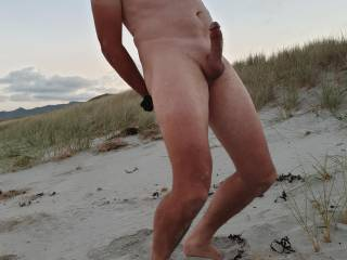 Showing off at the nude beach