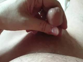 My tiny soft cock cumming on meth