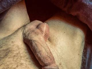 My penis on display as I sext with a friend exchanging photos.