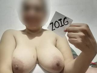 Yes, wifey is a real big boobs woman.