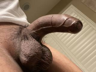 Showing off my uncut cock