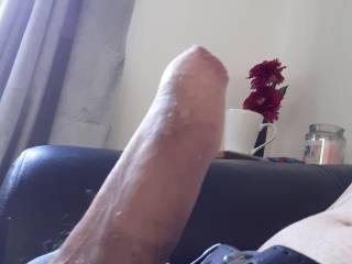 Jusy me with a hard cock ... anyone wanna help me out ?