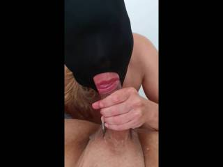 Sucking, rimming, cumming in her mouth, swallowing, she loves it all! She's the best a man can wish for!