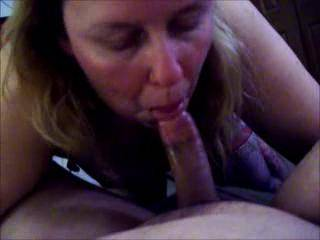 """Lupo\'s wife getting fucked by her hubby as she sucks on Sportluvr and she """"admits"""" she\'s a slut!"""