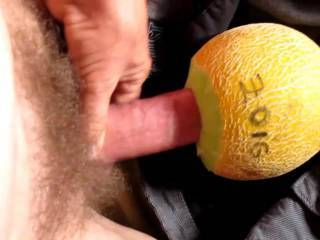 Pushing my dick into a fresh sweet fruity melon - please homey, cum and suck me off!! Want me to deep throat your sweet mouth? (women only!!)