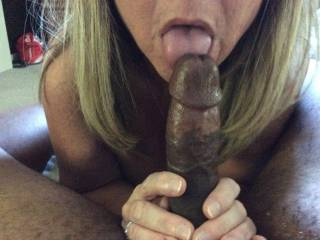Would you share that beautiful cock? We can suck and lick it together until he fills both of our hot wet mouths with his hot cum. My hubby will take turns eating our wet pussys until we both cum.