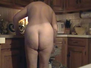 Wife exposed cleaning the kitchen. Can she clean yours?