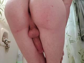 My nice smooth ass after a bath