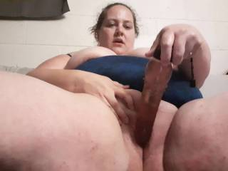 playing with my shaved pussy after a slow cam show