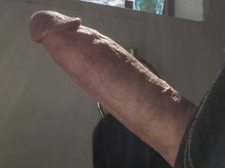 Raging with passion. Hope no one walks by the window while you\'re sucking my stallion shaft. ;-)