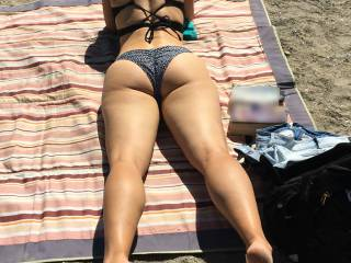 What an ass she has and she loves to show it and tease. Would she catch you looking?
