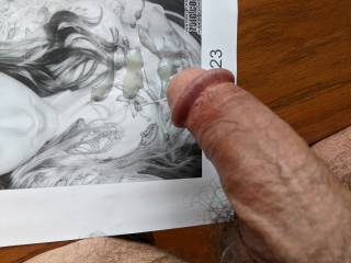 I want to stroke my cock and cum all over your tits. Want to lick it up?