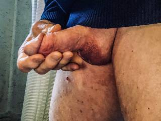 Swollen penis needs massage.