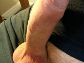 Hard fat cock and big cum filled balls for you