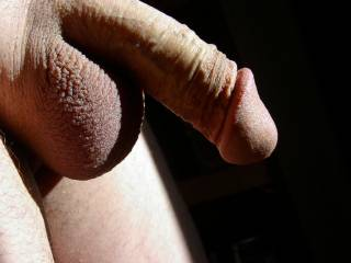 Great looking cock and balls and great lighting in this pic.