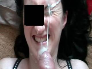 hubby gives me a facial