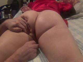 Great view of your ass....I wish that was MY hand touching those cheeks!