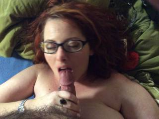 Lucky hubby, its always a treat to find a big titty beauty that really knows how to suck a dick,  you got yourself a keeper!