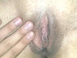 spreading pretty wife pussy