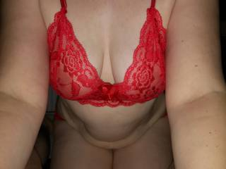 here is the wife getting ready to own my dick, what would you all do with her