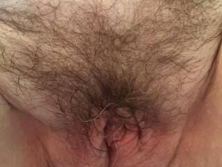 After trying out all her toys and a good licking mrs display's pussy was well used. you can see some of mr display's grey beard hairs in her pubes.